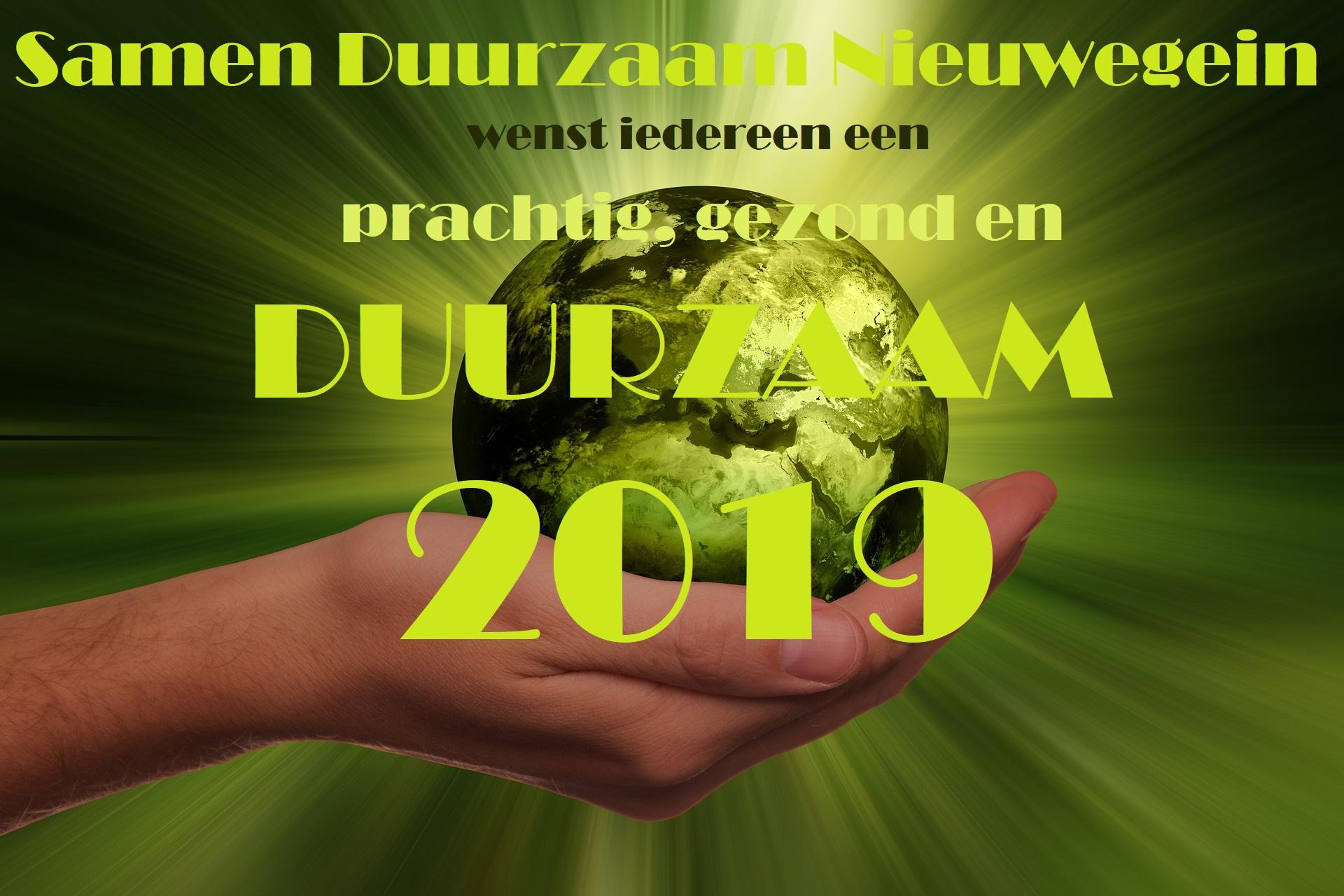 Samen Duurzaam Nieuwegein nieuwjaarswens 2019